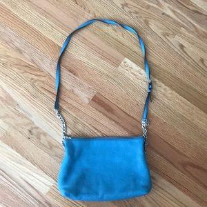Michael Kors Blue Leather Shoulder Bag